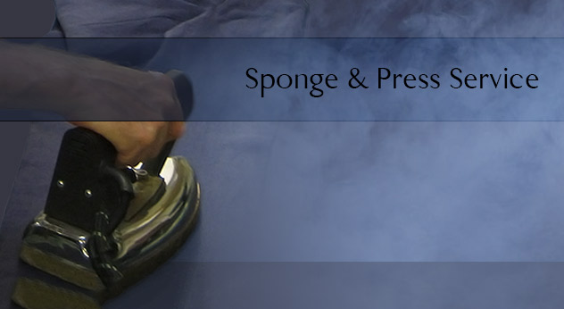 bespoke suit sponge and press service in savile row